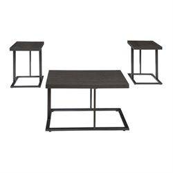 Ashley Airdon 3 Piece Coffee Table Set in Bronze