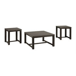 Ashley Joyla 3 Piece Coffee Table Set in Black and Gray