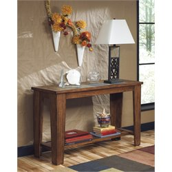 Ashley Toscana Console Table in Rustic Brown