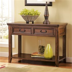 Ashley Woodboro Console Table in Dark Brown