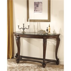 Ashley Norcastle Console Table in Dark Brown
