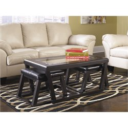 Ashley Kelton Coffee Table with 2 Stools in Espresso