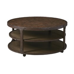 Ashley Shofern Round Coffee Table in Rustic Brown