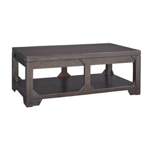 Ashley Rogness Lift Top Coffee Table in Rustic Brown