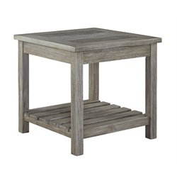 Ashley Veldar Square End Table in Whitewash