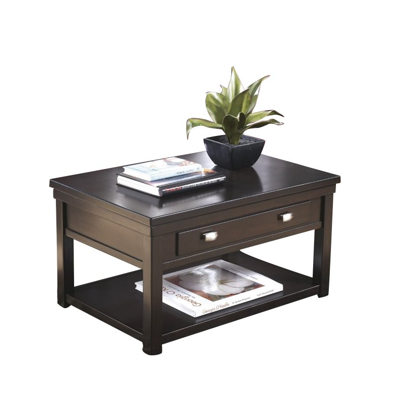 Ashley Hatsuko Lift Top Coffee Table In Dark Brown T864 9