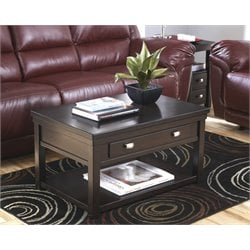 Ashley Hatsuko Lift Top Coffee Table in Dark Brown