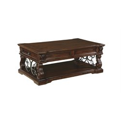 Ashley Alymere Lift Top Coffee Table in Rustic Brown