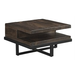 Ashley Vendol Square Coffee Table in Brown and Black