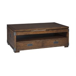 Ashley Jakeley Lift Top Coffee Table in Medium Brown