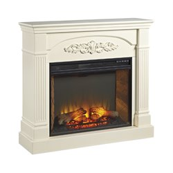 Ashley Boddew Fireplace in Cream