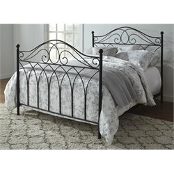 Ashley Nashburg King Metal Spindle Bed in Black