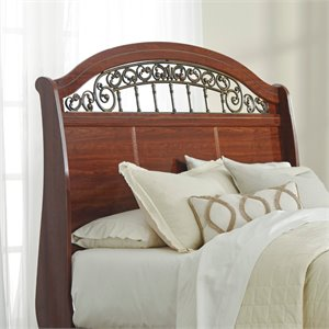 Ashley Fairbrooks Estate Queen Sleigh Headboard in Reddish Brown