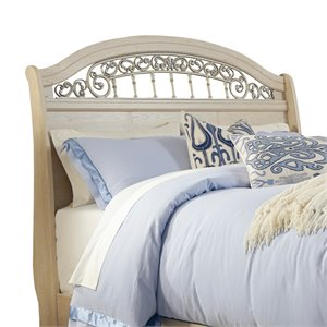 Ashley Catalina Queen Sleigh Headboard in Antique White