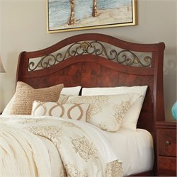 Ashley Delianna Queen Sleigh Headboard in Reddish Brown