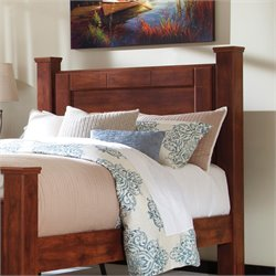 Ashley Brittberg Queen Poster Headboard Panel in Reddish Brown