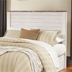 Ashley Willowton Queen Full Panel Headboard in Whitewash