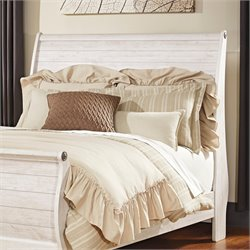 Ashley Willowton Queen Sleigh Headboard in Whitewash