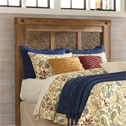Ashley Ladimier Queen Mansion Headboard in Golden Brown