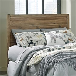 Ashley Fennison Twin Panel Headboard in Light Brown