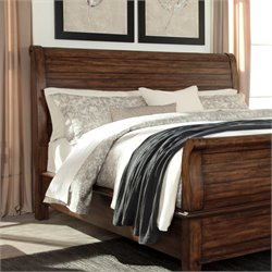 Ashley Chaddinfield Queen Sleigh Headboard in Brown