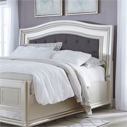 Ashley Coralayne Queen Upholstered Panel Headboard in Silver