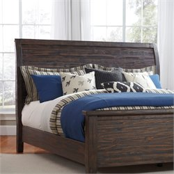 Ashley Trudell Queen Sleigh Headboard in Dark Brown