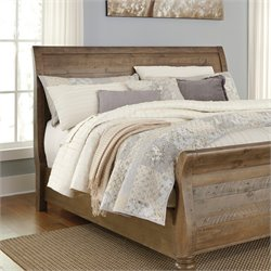 Ashley Trishley Sleigh Headboard in Light Brown