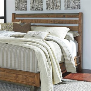 Ashley Dondie Sleigh Headboard in Warm Brown