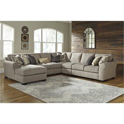 Ashley Pantomine 5 Piece Sectional in Driftwood