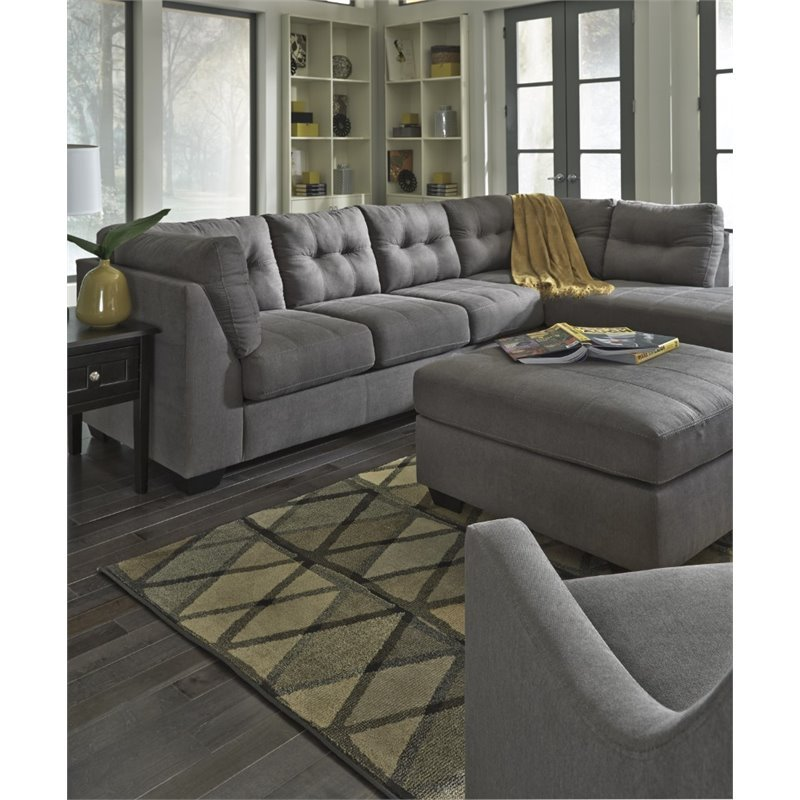 Ashley Maier 2 Piece Left Facing Sectional In Charcoal