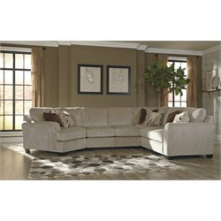 Ashley Hazes 4 Piece Right Facing Sectional in Fleece