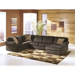 Ashley Vista 3 Piece Sectional in Chocolate