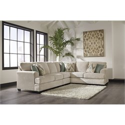 Ashley Ameer 3 Piece Right Facing Sectional in Sand