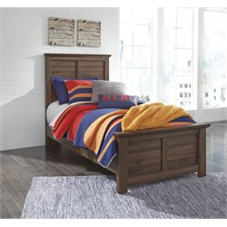Ashley Burminson Twin Panel Bed in Brown