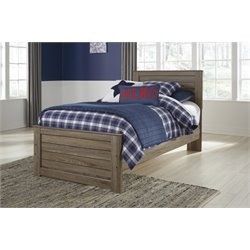 Ashley Javarin Panel Bed in Grayish Brown