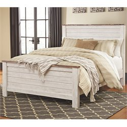 Ashley Willowton Panel Bed in Whitewash