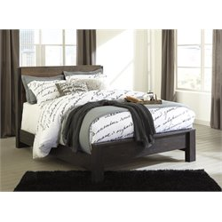 Ashley Windlore Panel Bed in Dark Brown