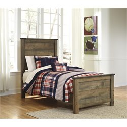 Ashley Trinell Twin Panel Bed in Brown