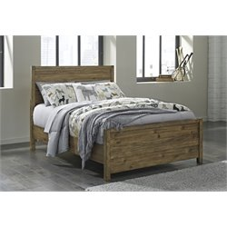 Ashley Fennison Twin Panel Bed in Light Brown