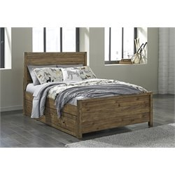 Ashley Fennison Twin Storage Bed in Light Brown