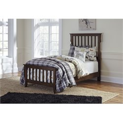 Ashley Strenton Twin Sleigh Bed in Brown
