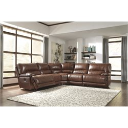 Ashley Kalel 5 Piece Power Reclining Sectional in Saddle