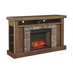 Ashley Tamilo Fireplace in Honey