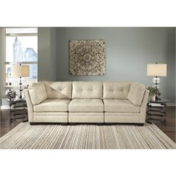 Ashley Khalil DuraBlend 3 Piece Sofa in Taupe