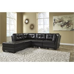 Ashley Khalil DuraBlend 5 Piece Sectional in Black