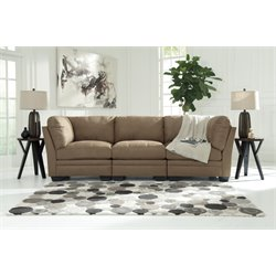 Ashley Iago 3 Piece Sofa in Mocha