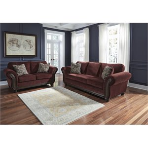 Ashley Chesterbrook Sofa Set in Burgundy