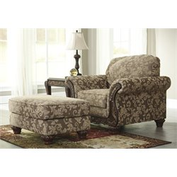 Ashley Irwindale Accent Chair with Ottoman in Topaz