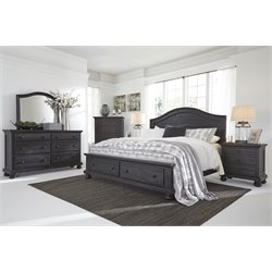 Ashley Sharlowe 5 Piece Queen Storage Panel Bedroom Set in Charcoal